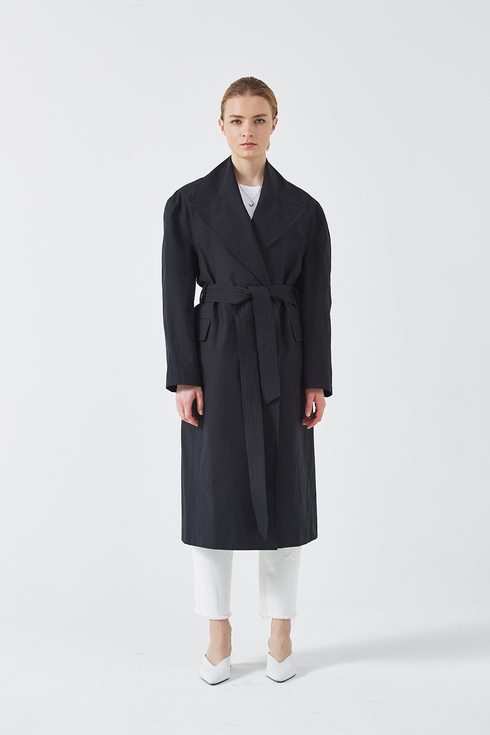 Silhouette Trench Coat Black