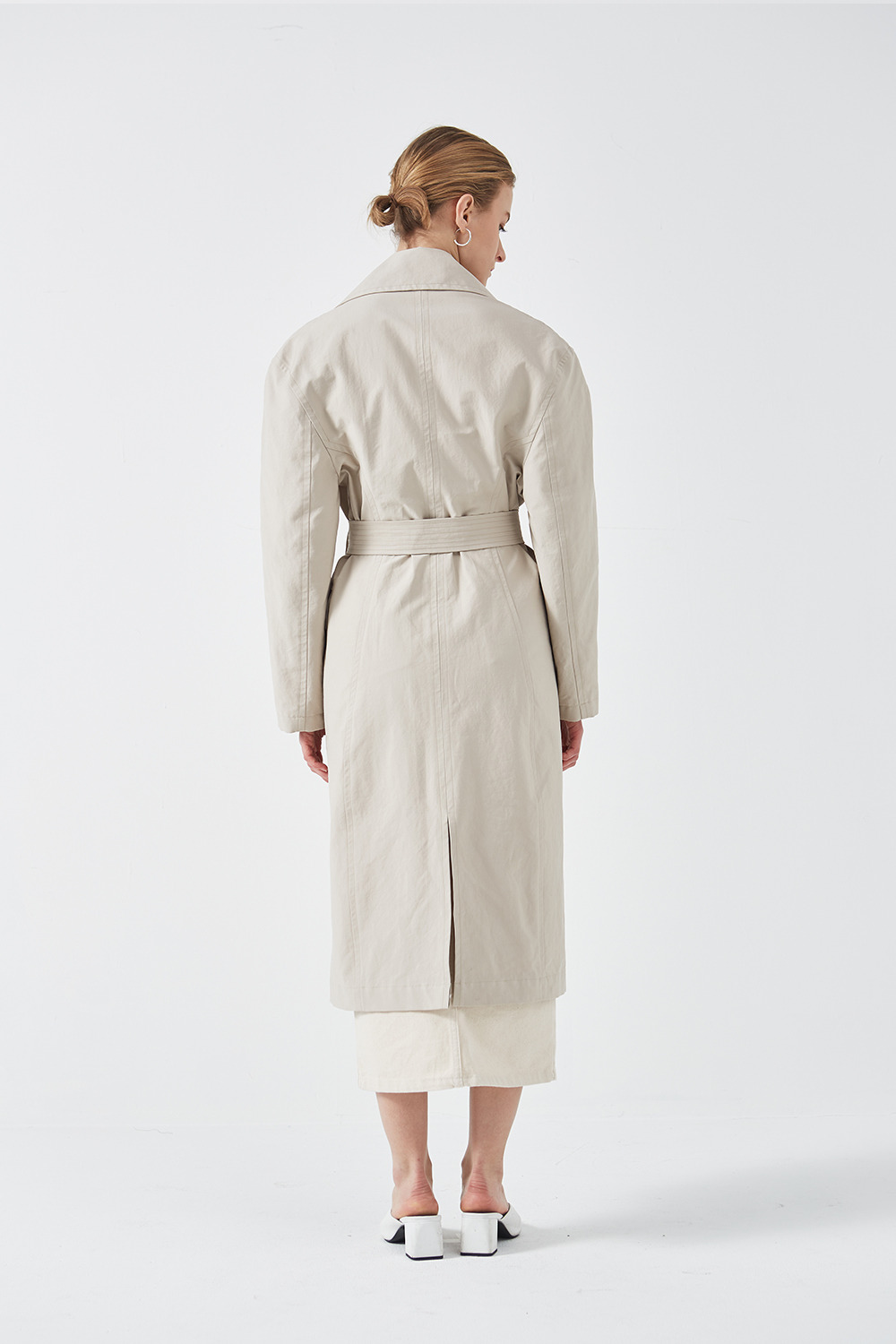 Silhouette Trench Coat Beige