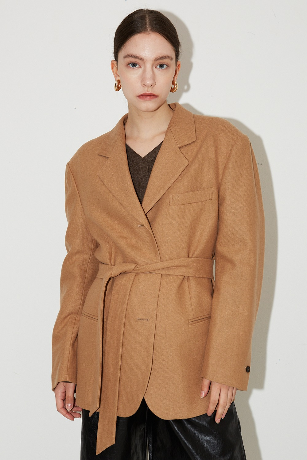 Classic Wool Jacket Camel